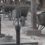 stookgaten in steenfabriek