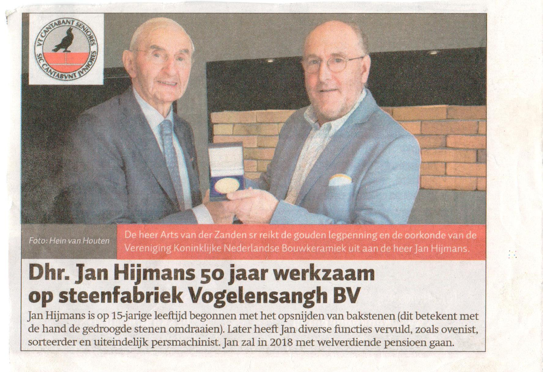 Jan Hijmans 50 jaar in dienst